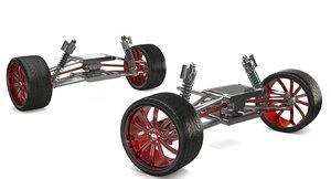 3D buggy vehicle undercarriage