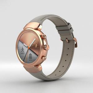 3D asus zenwatch watch