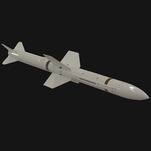 3D selenia aspide missile model