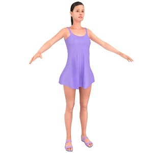 3D female dress model