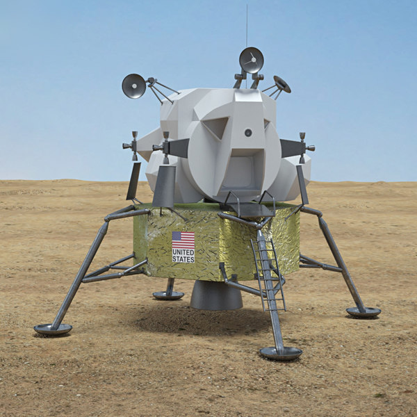 3D apollo lunar module model