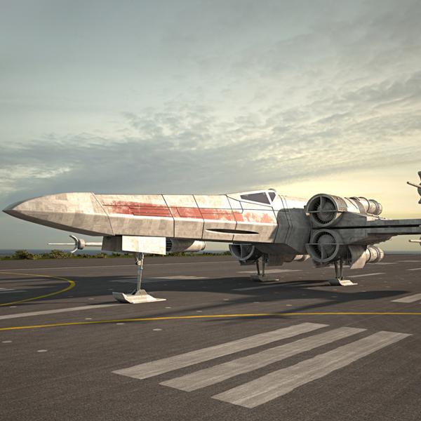 3D model x-wing fighter x