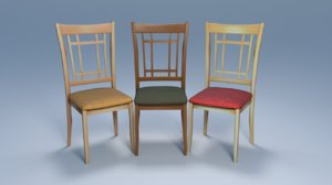 3D chairs furniture seat model