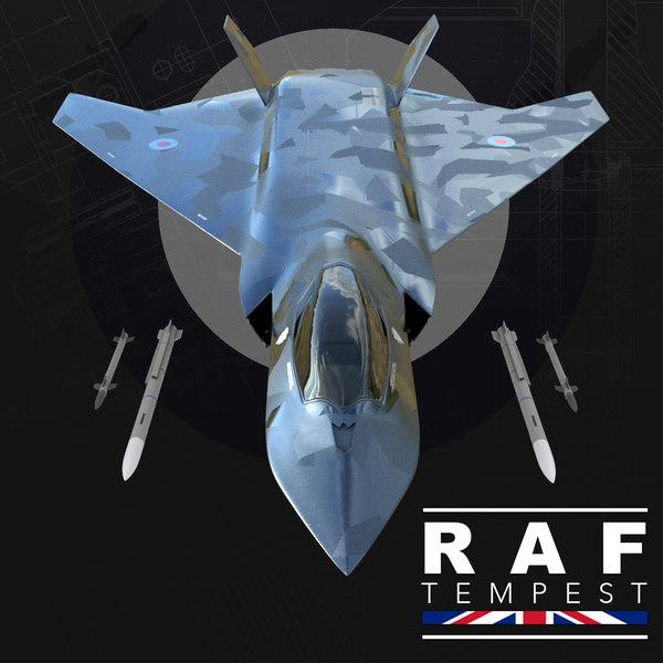 bae raf tempest 3D model