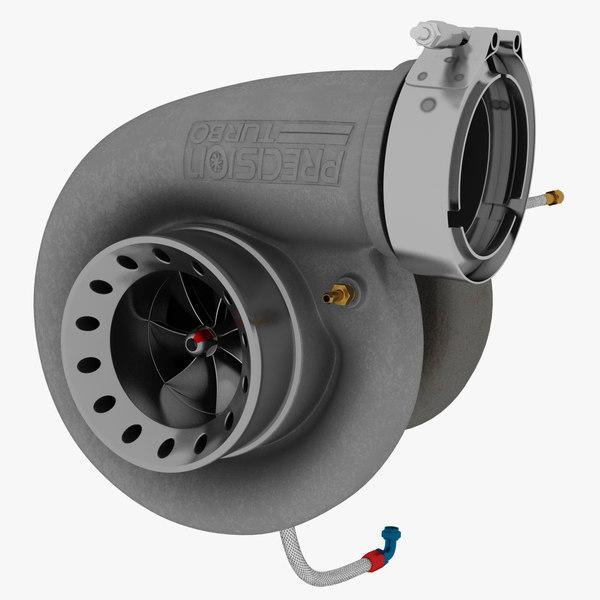 6877 turbocharger compressor 3D