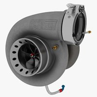 6877 turbocharger compressor 3D