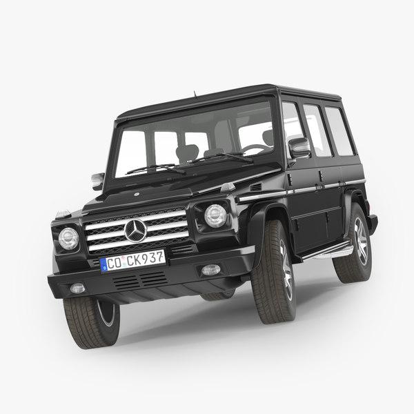 3d mercedes-benz gelandewagen g-class model