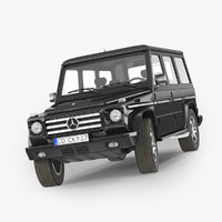 3d mercedes-benz gelandewagen g-class model