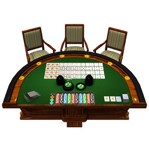 casino table 3D