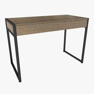 realistic drawer desk color 3D model