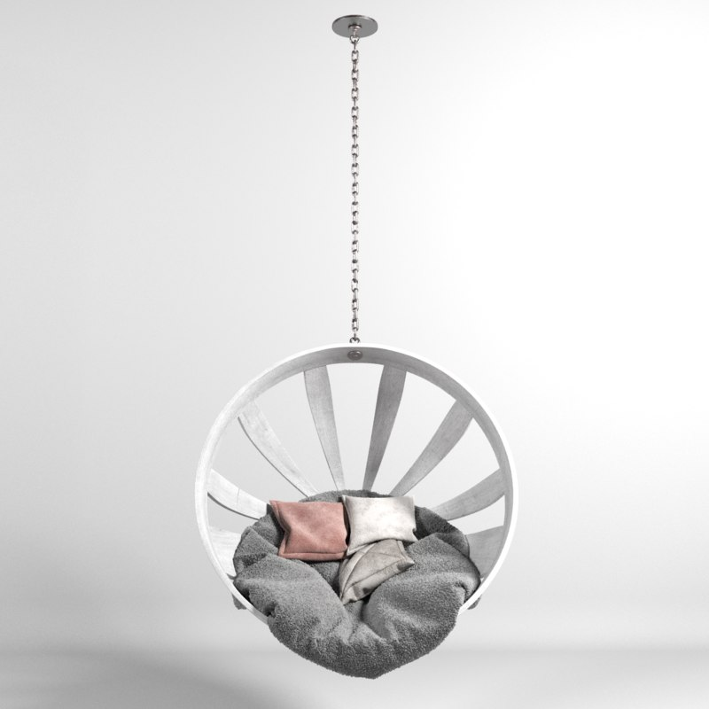 hammock white 3D model