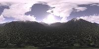 Late Morning Mountains HDRI Sky