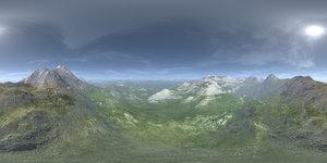 Noon Desert Mountains HDRI Sky