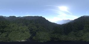 Noon Forest Hills HDRI Sky
