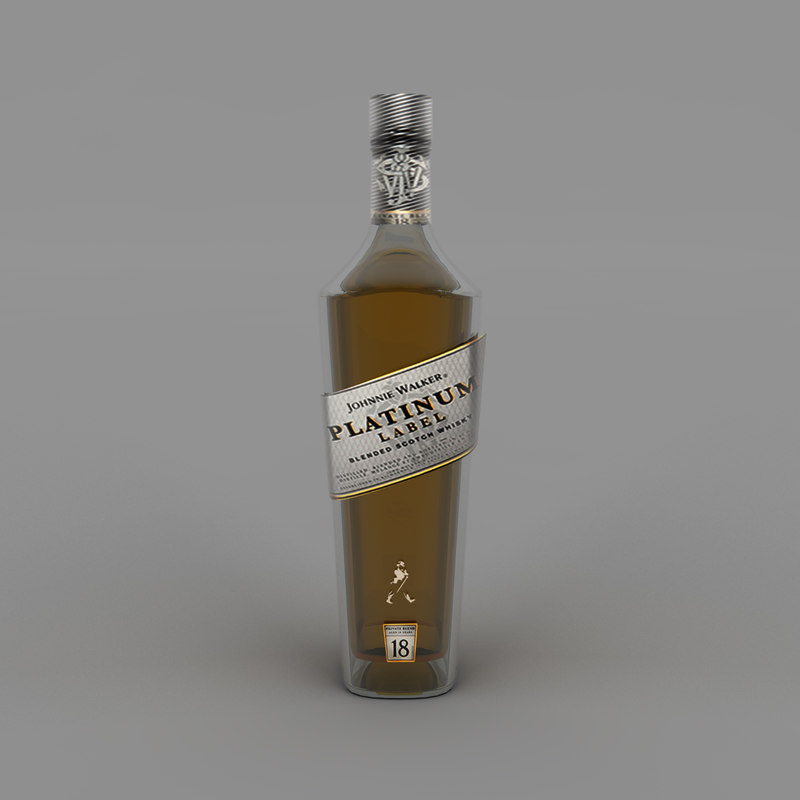 platinum label bottle 3D model