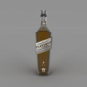 platinum label bottle 3D model