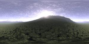 Late Morning Hill HDRI Sky