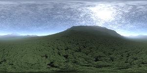Noon Hill HDRI Sky