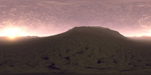 Late Evening Hill HDRI Sky
