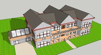 3D scale house model