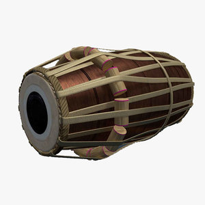 3D dholak indian traditional