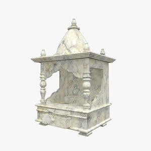 3D marble temple model
