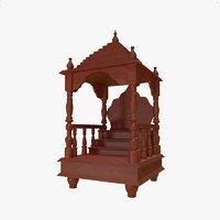 3D wooden temple