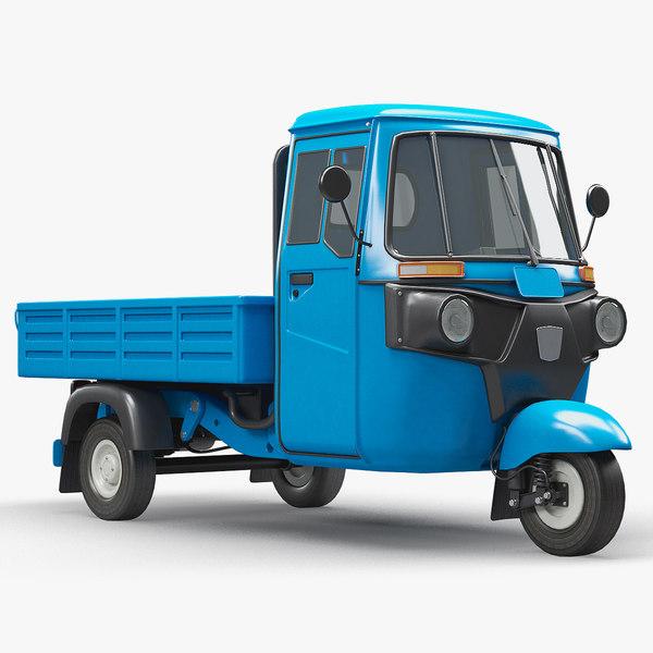 3D three-wheeler cargo vehicle