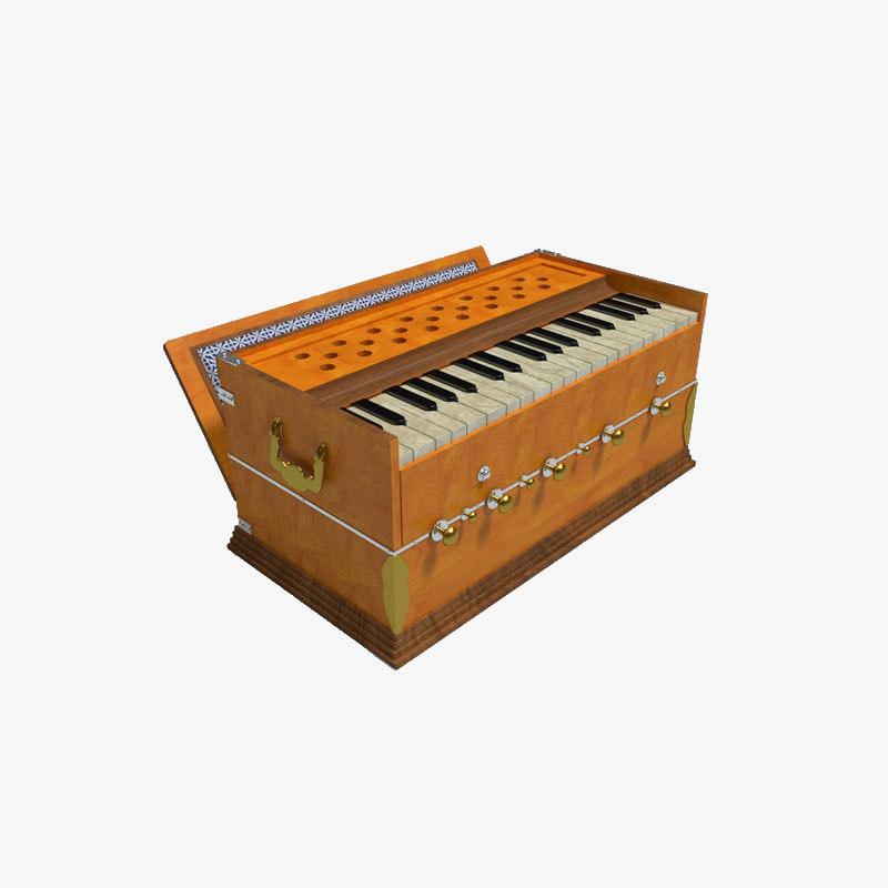 harmonium indian traditional 3D model