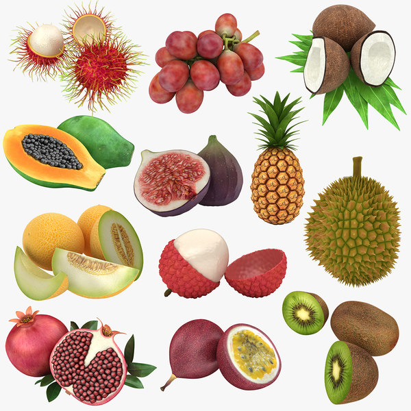 3D tropical fruit model