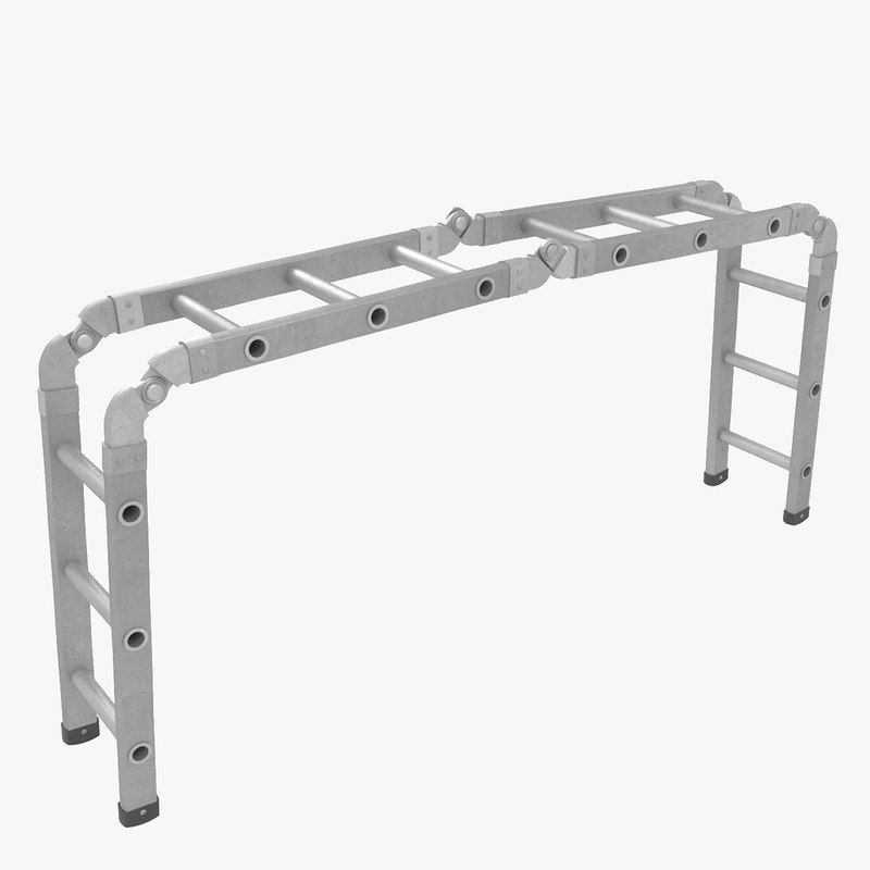trestle ladder 3d max