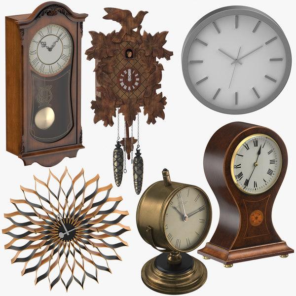 clocks design modern 3D model