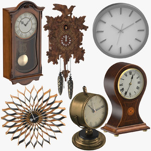 clocks design modern 3D model