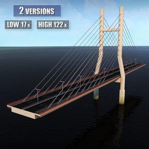 suspended bridge 3d 3ds