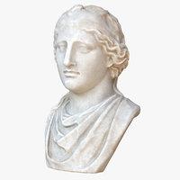 3D aphrodite bust