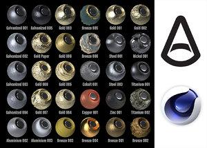 arnold shader metals 1 3d model