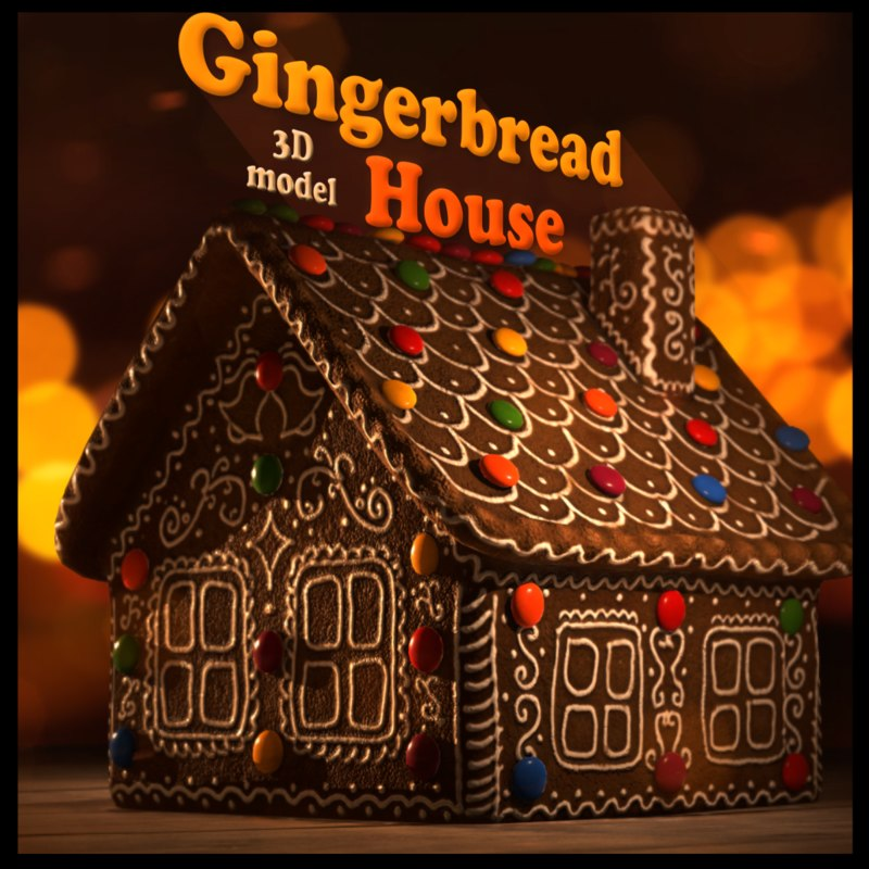 gingerbread house 3d 3ds