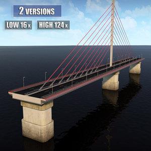 3ds suspended bridge
