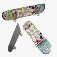 3D lightwave skateboard