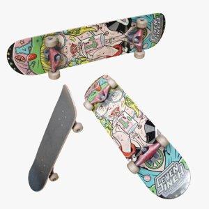 3D lightwave skateboard