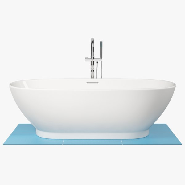 3D oval bath model