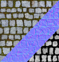 Cobble stone tex with normal map 02