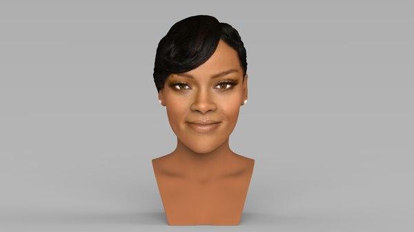 rihanna ready color printing 3D model
