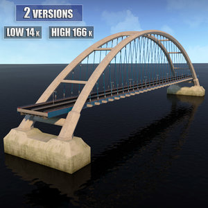 3d suspended bridge model
