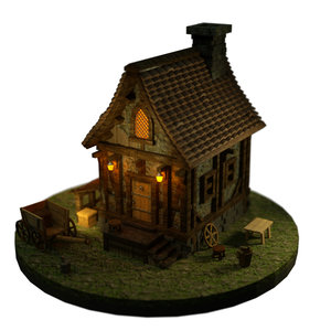 medieval house model