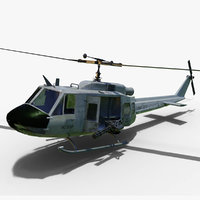 bell huey uh-1 helicopter 3D