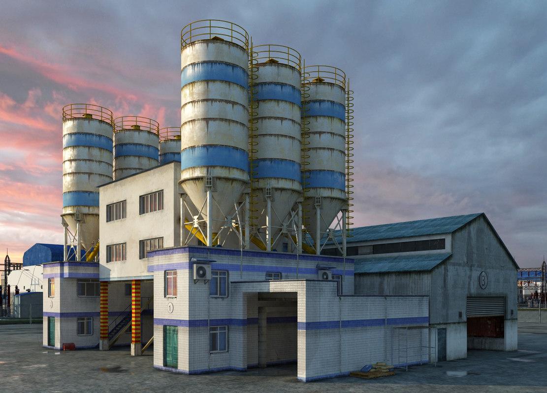 3d 3ds plant factory area