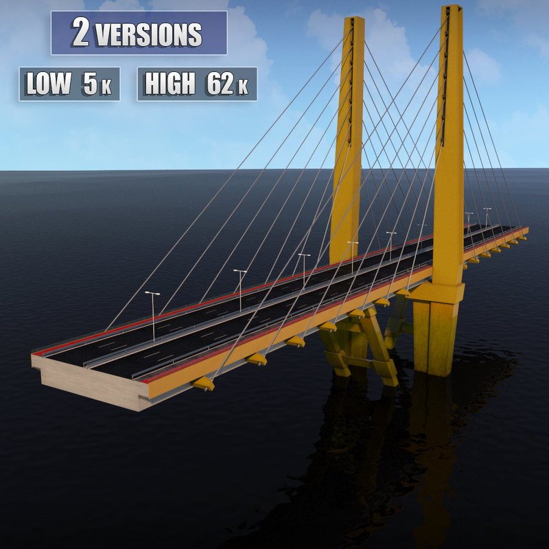 3d model suspended bridge