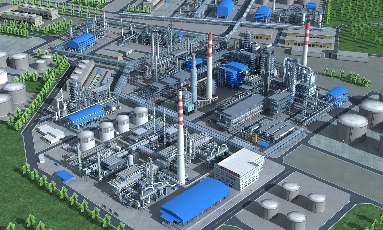 3D refinery industry