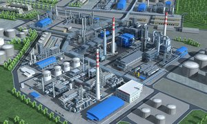 3D refinery industry